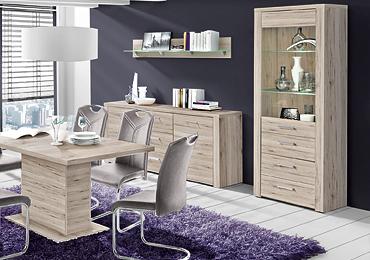Robin Hood Möbel und Küchen - unsere große Auswahl an guten und günstigen Esszimmern, Sideboards, Highboards, Tischgruppen, Esstischen und Stühlen