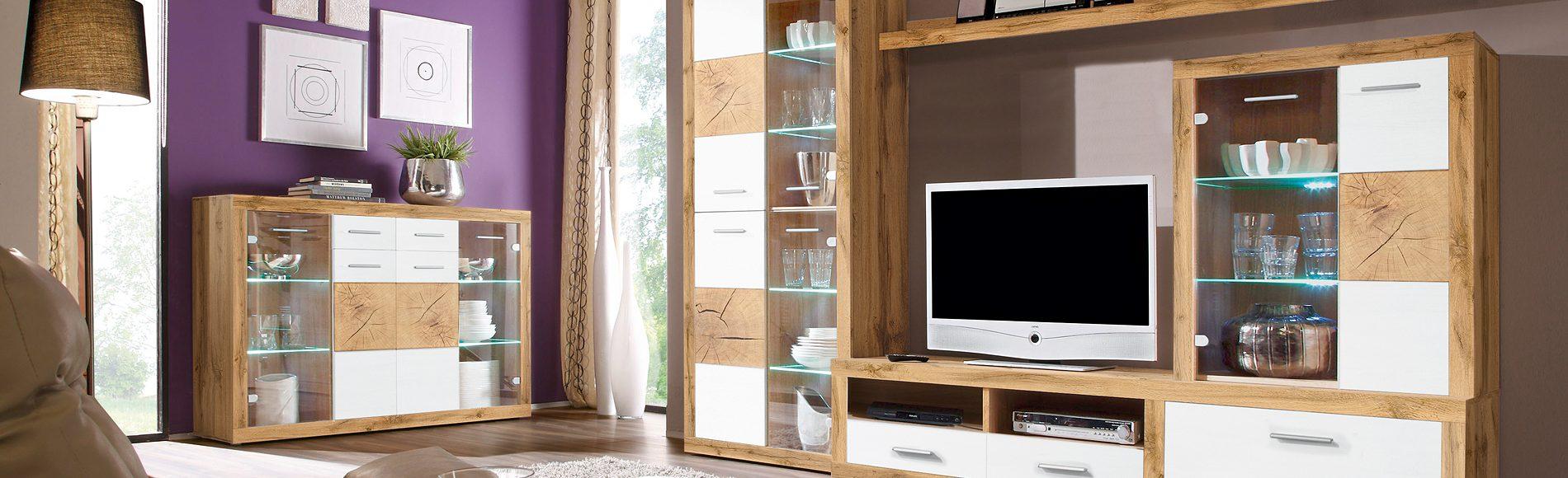 Wohnwand Woods günstig kaufen bei Robin Hood Möbel + Küchen, Donaueschingen