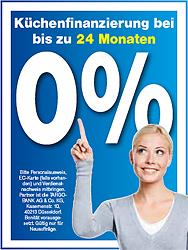Finanzierung zu 0% bei einer Laufzeit von bis zu 24 Monaten