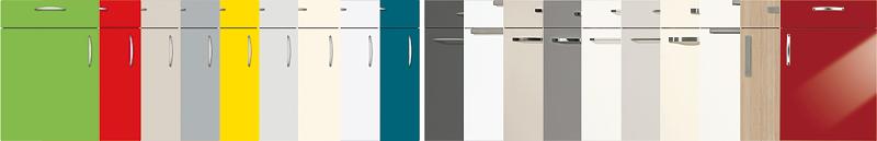 Wir bieten Ihnen selbstverständlich eine große Auswahl an Küchenfronten und Farben!