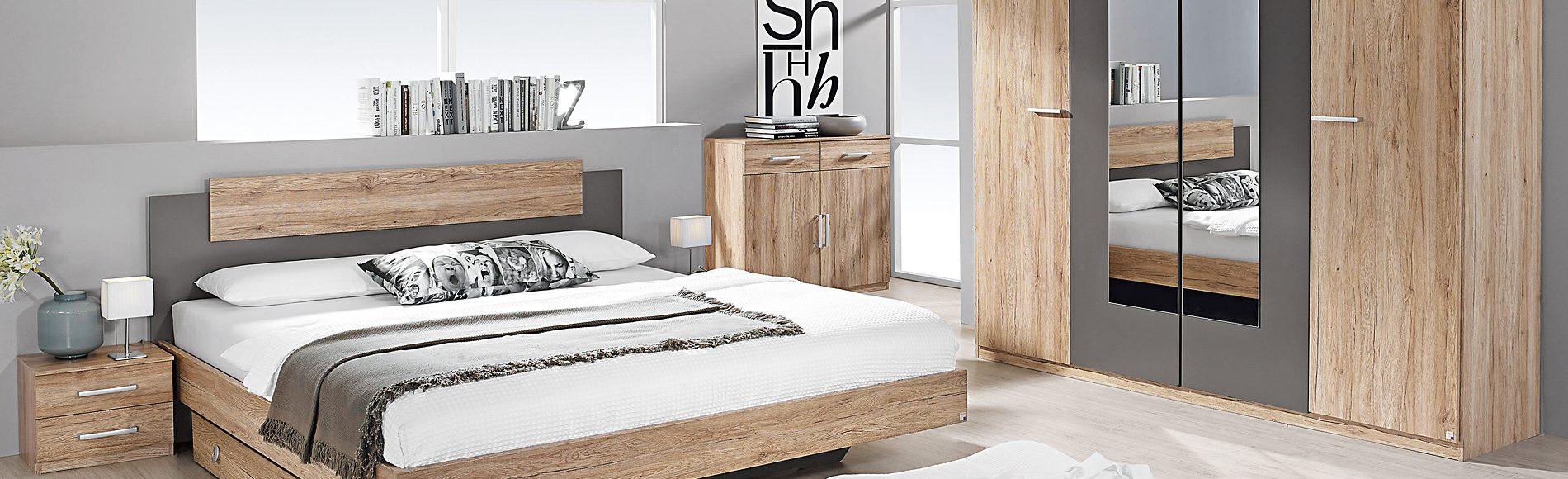 Schlafzimmer Bettanlage, Nachtkommoden, Kleiderschrank günstig kaufen bei Robin Hood Möbel+Küchen in Donaueschingen