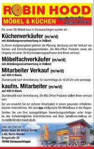 Stellenanzeige, Jobs bei Robin Hood SB-Möbel GmbH